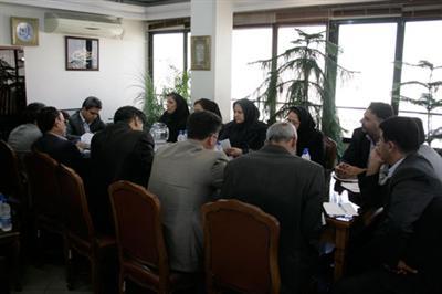 جلسه با مدیرعامل بیمه دانا سال1392 دکتر کاردگر